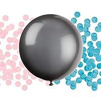بالون كشف جنس الجنين مع قصاصات وردية وزرقاء (حفلة بيبي شور)