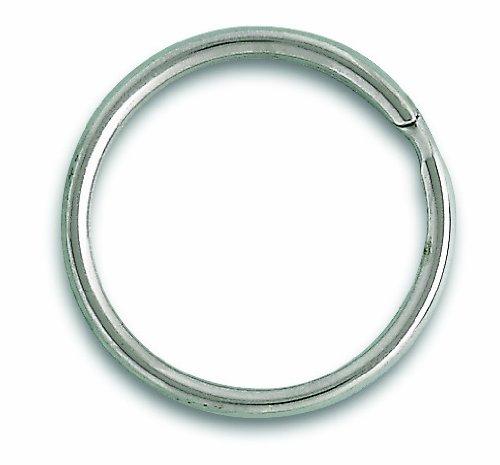 Chapuis VAB3 Confezione di 3 anelli spaccati - Acciaio nichelato - Diametro interno 26 mm