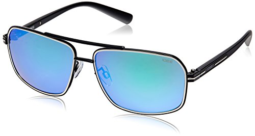 IDEE Aviator Sunglasses (IDS1908C360SG|60|Silver and Black ) image
