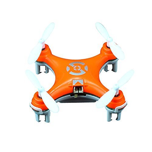 Cheerson CX-10 Mini 29mm 4CH 2.4GHz 6-Axis Gyro LED RC Quadcopter Bright Orange by Cheerson