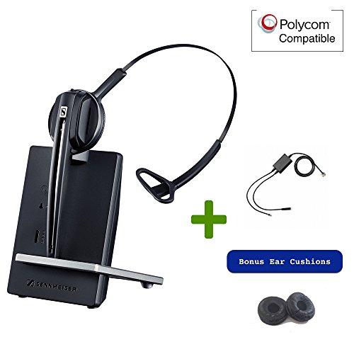 Polycom Headset für Sennheiser D10, kabellos, mit EHS und SoundPoint-Telefonen: IP 335, IP 400's, IP 500's, IP 650, IP 670, VVVX 201, VVX300's, VVVX400, VVVX411, VVVX500, VVVX601, VVX1500 -