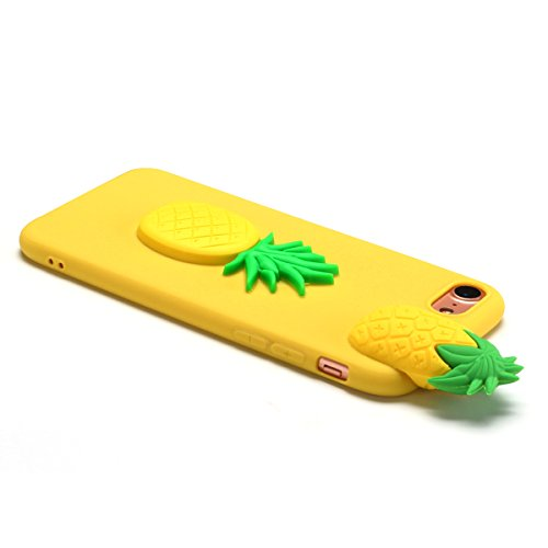 Cover iPhone 7 Plus Spiritsun Case iPhone 8 Plus Custodia Moda Ultraslim Soft TPU Case 3D Diy Handy Kawaii Cover High Quality Case Elegante Souple Flessibile Liscio Copertura Perfetta Protezione Shell Ananas