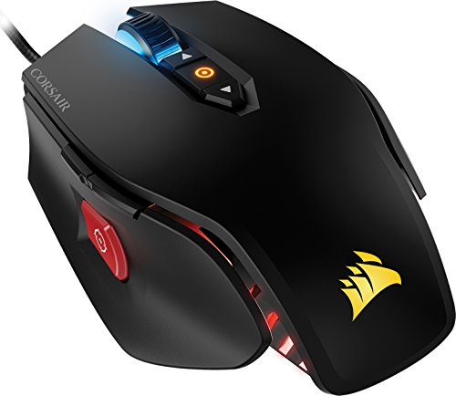 Corsair Gaming M65 Pro - Ratón Óptico Gaming 12,000 DPI, Retroiluminación Multicolor RGB