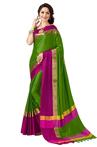 Indian Beauty Designer Green Art Silk Saree