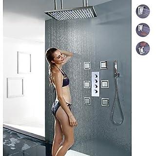 AiMi- Duscharmaturen - Zeitgenössisch - LED/Regendusche/Seitendüse/Handdusche inklusive - Messing ( Chrom )