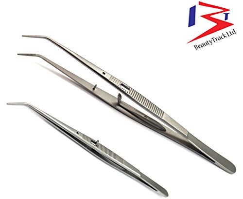 London College Pinzette Chirurgische Instrumente Dental Edelstahl Beautytrack Hochschule Pinzette Packung mit 5 Stück