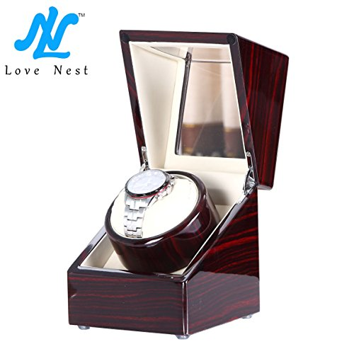 [New Style] Love Nest Single Watch Winder Piano Finish Pure Handmade  High Quality Japanese Mabuchi Motor X2EB