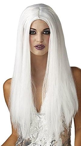 Sexy Langhaarperücke für Damen in Platinblond, Halloween, Karneval 61 cm lang