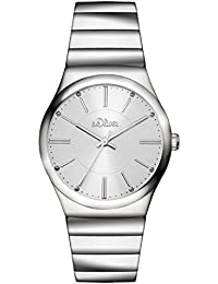 s.Oliver Damen-Armbanduhr Analog Quarz Edelstahl SO-3116-MQ