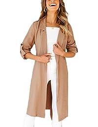 f597cb641eca4 Amazon.it  spolverino donna - Cappotti   Giacche e cappotti ...