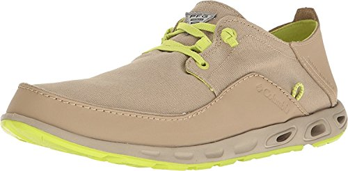 Columbia Mens Bahama Vent Relaxed Pfg Leather Casual Boat Shoes British Tan/Voltage
