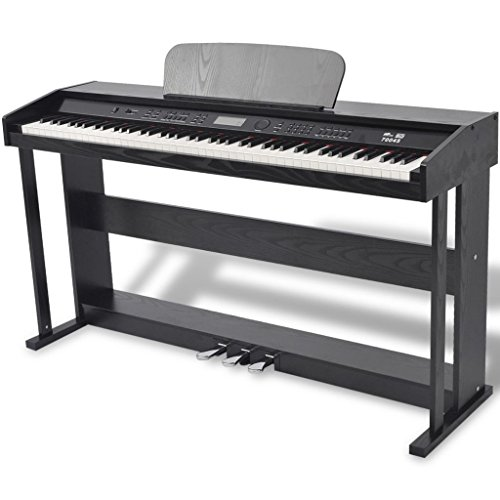 vidaXL Pianoforte Digitale 88 Tasti e Pedali Melamina Nera Strumento Musicale