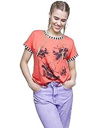 Romens Ltd Mujer Casual Túnica Blusas Manga Corta T-Shirt Women Dress