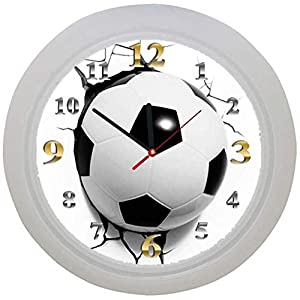 ✿ Kinderwanduhr in 4 Farben ✿ FUSSBALL football FUßBALL 1 Verein✿ Wanduhr ✿ Kinderuhr ✿ KEIN TICKEN ✿ mit/ohne Name