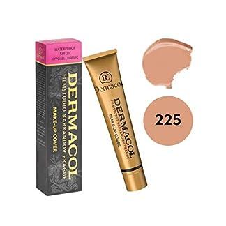 Dermacol Makeup Cover Total – Maquillaje Corrector Resistente al Agua SPF 30, 30 g, color 225