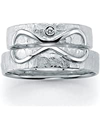 Unendlichkeit (Infinity) - für die Liebe des Lebens Eheringe, Trauringe, Verlobungsringe, Freundschaftsringe, Partnerringe Silber - Gelbgold oder Weißgold
