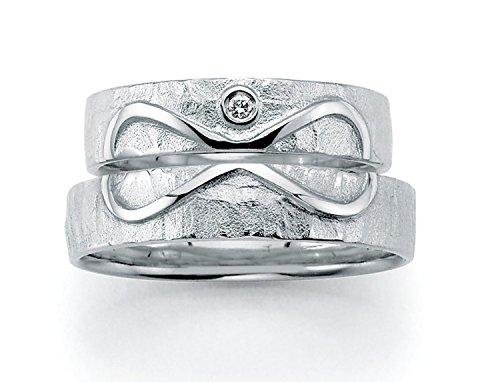 Unendlichkeit (Infinity) - für die Liebe des Lebens Eheringe, Trauringe, Verlobungsringe, Freundschaftsringe, Partnerringe Silber - Gelbgold oder Weißgold (1. Sterlingsilber 925)