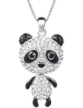 ❤Valentinstagsgeschenke❤ Halskette Panda Strass Zirkonia Süße Tiere Damen Herren Kinder Neoglory Jewellery