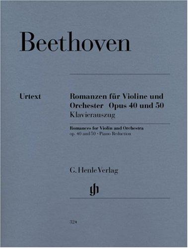 Romances Op.40 et 50 - Vl/Po