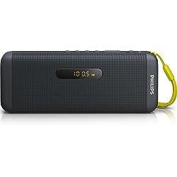 Philips SD700B Enceinte Bluetooth sans Fil avec Port USB, Carte MicroSD, Radio FM, Compatible Android, iPhones, Samsung, Noir