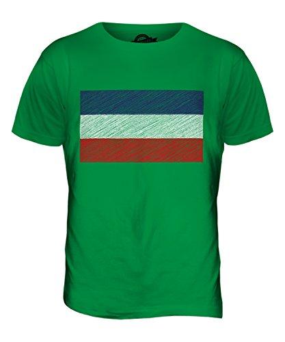 CandyMix Los Altos Kritzelte Flagge Herren T Shirt Grün