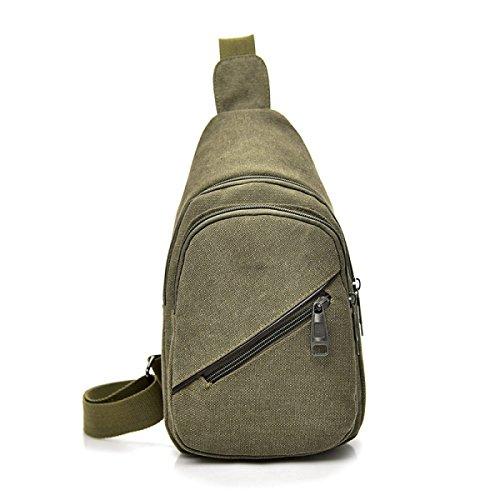BULAGE Tasche Brusttasche Männer Frauen Messenger Lässig Leinwand Rucksäcke Handtaschen Schulter Sport Mode Outdoor Green