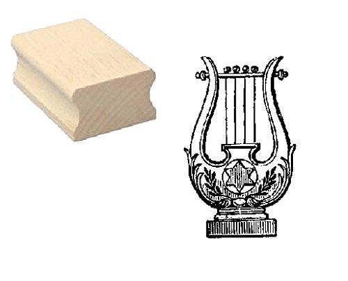 Stempel Holzstempel Motivstempel « ZITHER » Scrapbooking - Embossing Instrument Zupfinstrument Musiker Komponist