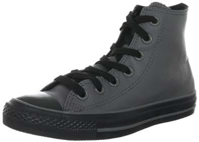 Converse Chuck Taylor All Star Leather  Charcoal 132096C, Unisex - Erwachsene Fashion Sneakers, Grau (Charcoal), EU 35 (US 3)