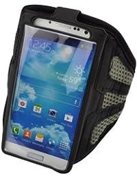 Alto Valor de malla gris Correr cubierta de la caja del brazal para i9500 Samsung Galaxy S4 SIV
