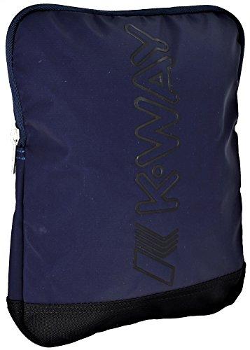 K-Way K-Teen, Borsa a Spalla Uomo, 2x25x19.5 cm (W x H x L) Blu (0A3 Navy)