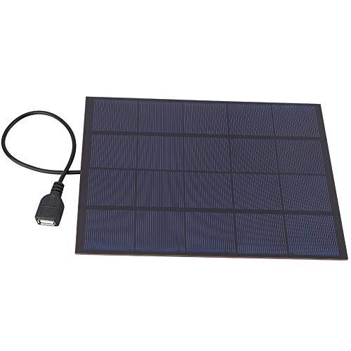 Alomejor Solarpanel Ladegerät 5W 5V 0.83A Monokristallines Silizium Mini Solarpanel mit mit USB Kabel für Handy Laptop Camping Travel