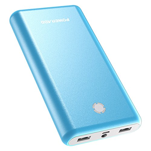 POWERADD Pilot X7 Powerbank Caricabatterie Portatile 20000 mAh con 2 Output per Apple iPhone 8 / 7s Samsung Galaxy Huawei - con Un Cavo Micro USB