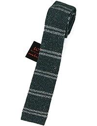 Lovarzi Männer Krawatte - Wolle und Seide gestrickte Krawatten für Herren - Hergestellt in Italien