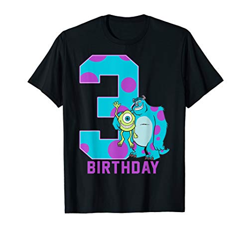 Disney Pixar Sully And Mike 3rd Birthday Portrait T-Shirt