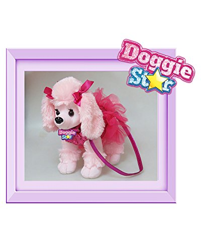 DOGGIE STAR® Borsa a forma di cane razza Caniche gigante fucsia con il tutù Rosa - Tutu Fuxia/Viola Perfecta En Línea KDNkUy3
