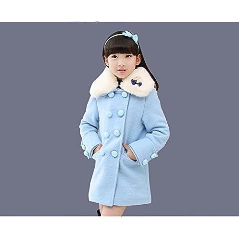 MYM Dongkuan niñas chicas capa de lana de NI lanas de la chaqueta acolchada chaqueta de los niños ,