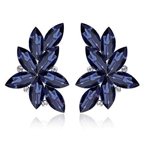 YouBella Blue Gold-Plated Dangle and Drop Earrings for Women