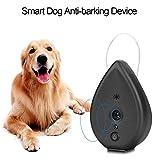 GOTOTOP Ultrasónico Inteligente Dispositivo Anti-ladrido del Perro Portátil Entrenador Controlador de Canino para Uso Interior
