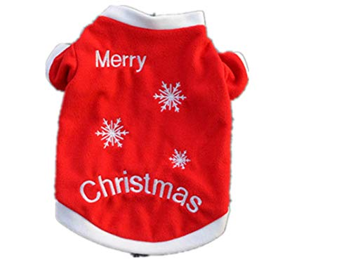 Vestiti Di Natale Per Cani.Kingduo Vestiti Di Inverno Di Natale Cane Gatto Caldo Pullover Ricamato Abito Costume Di Cappotti Per Cucciolo Cani 02 L