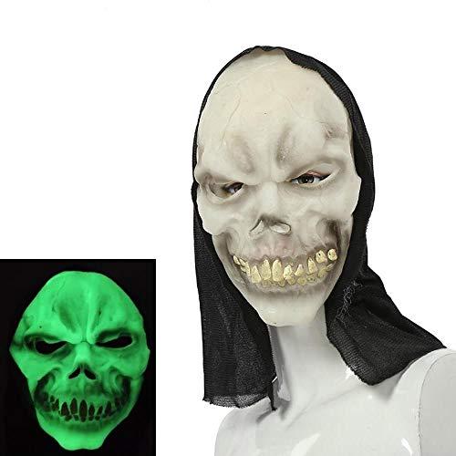 MROSW Haunted House of Horror Helle Halloween-Maske Furchtsame Grimassenmaske , 02