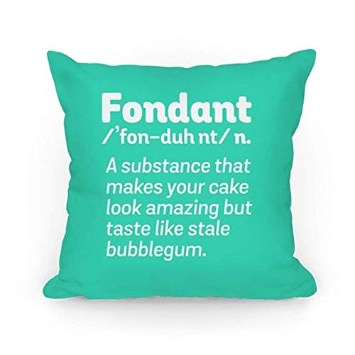 fdghjdyjdty Fondant Definition Throw Pillow Case Cushion Cover 18 x 18 Inches