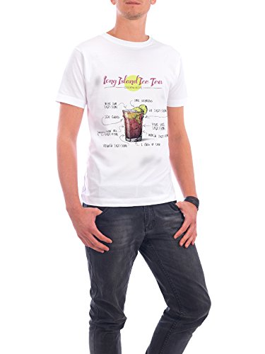 "Design T-Shirt Männer Continental Cotton ""Cocktail Long Island Ice Tea"" - stylisches Shirt Essen & Trinken von Arman Akopyan Weiß"