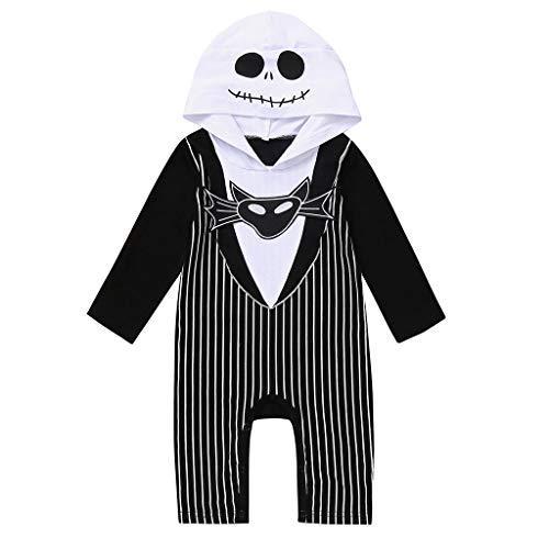 Riou Baby Kostüm Halloween Kostüm Fledermaus Kostüm Neugeborenes Baby Jungen Mädchen Karneval Fasching Paty Cospaly Costume Halloween Hooded Overall Jumpsuit Strample (90, - Baby Jungen Hexe Kostüm