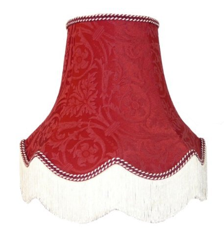 Premier Lampshades 18 Inch Burgundy Pattern Fabric Lampshade