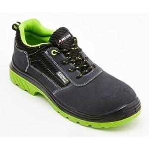 41aFDJQITwL. SS300  - Bellota 7231043S1P Zapato de seguridad, Negro, Verde, 43