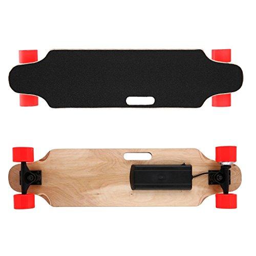 mymotto RF 2.4G Skateboard électrique, 20-25 km/h Longboard avec Télécommande sans Fil - 90 x 23 x 12 cm...