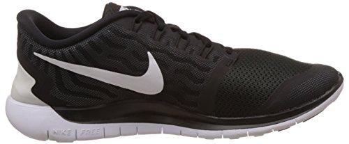 Nike Free 5.0, Herren Laufschuhe Grau (Schwarz/Dunkles Grau/Kühles Grau/Weiß 002)