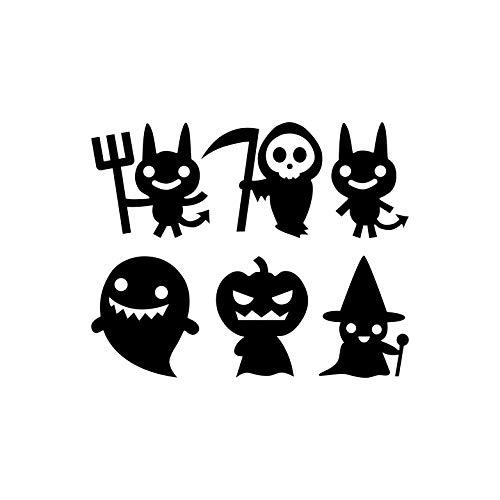 nyl, Halloween-Motive, jeweils 21,6 cm bis 21,6 cm, lustige Halloween-Dekoration, Aufkleber - für Innen- und Außenbereich, für Fenster, Wohnzimmer, Büro, 6 Stück ()