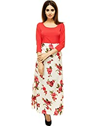 Adyuth Floral Pink Printed Maxi Dresses