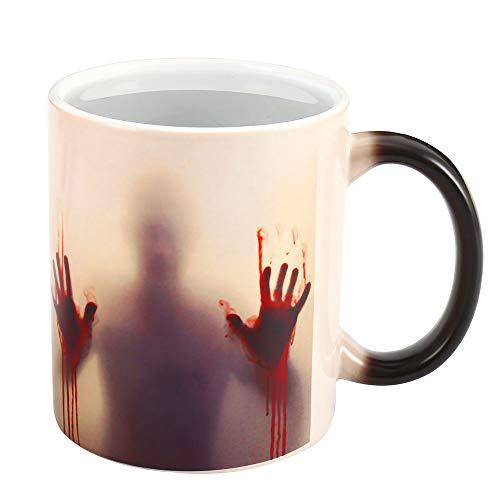 se mit Thermoeffekt Halloween Deko Horrorgeschichte Walking Dead Magische Becher Farbwechsel Tasse Kaffeetasse Halloween Geschenke (Walking Dead) ()